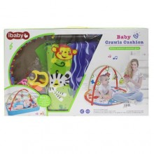 Ibaby Baby Crawls Cushion Mat - Multicolour