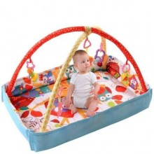 Ibaby Baby Crawls Cushion Mat - Multicolour