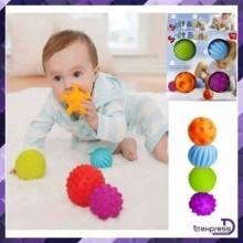 Sensory Ball Soft & Flexible For Kids - 6 Pieces Multicolour