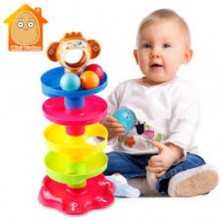 Baby Tower Puzzle Rolling Ball Stackers