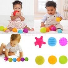 Sensory Ball Soft & Flexible For Kids - 8 Pieces Multicolour