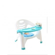 Kids Chair with Detachable Food Tray - Blue/White