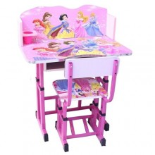 Kids Study Table & Chair Set - Pink