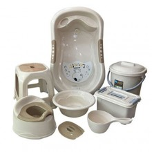 Baby Bath Set - 7 Pieces Beige