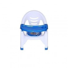 Chair With Detachable Feeding Tray For Children - Blue/White