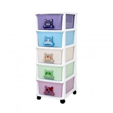 Quality 5 - In - 1 Baby Wardrobe.- Multicolour