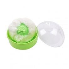 Baby Powder Pouf Sponge - White/Green
