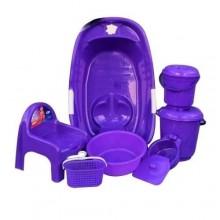 Quality Baby Bath Set - 7 Pieces - Purple