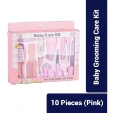 Portable Baby Grooming & Care Kit - 10 Pieces - Pink