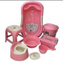 Unique Baby Bath Set - 7 Pieces Pink
