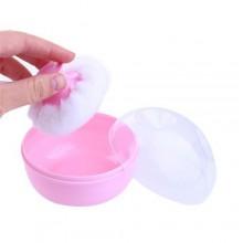 Baby Powder Pouf - Pink/White