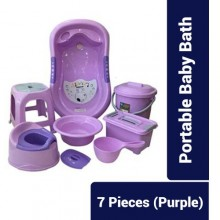 7Set Portable Baby Bath - Purple