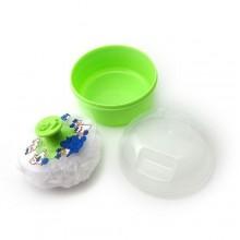 Baby Powder Pouf - White/Green