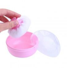 Baby Powder Pouf Sponge - Pink/White