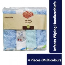 Washcloth Square Towels Comfortable Colorful 4pcs/Pcak Infants Wiping Supply Bathing Supply Handkerchiefs- Multi