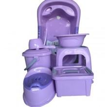 Unique Baby Bath Set - 7 Pieces Purple