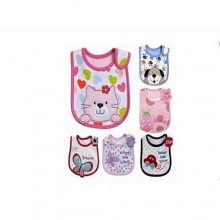 Colourful Baby Bib For Toddler Set - 6 Pieces Multicolor
