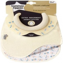 tommee tippee 2 Pieces Closer To Nature Milk Feeding Bibs - Cream /Multicolour