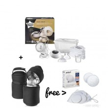 tommee tippee Electric Breast Pump + Bottle Warmer Bag & Free Breast Pads