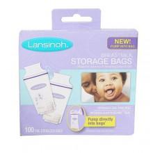 Lansinoh Breast Milk Storage Bags - 100Pieces White