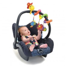 Baby Car Seat With Toys- Black