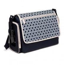 Colorland Single Strap Diaper Bag - Blue/White