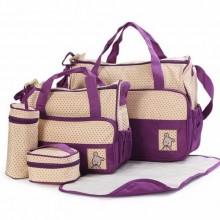 Diaper Bag Set - 5 Pieces - Purple