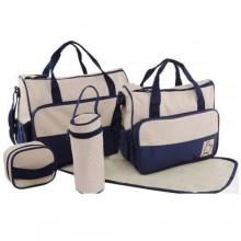 Portable Diaper Bag Set - 5 Pieces Blue