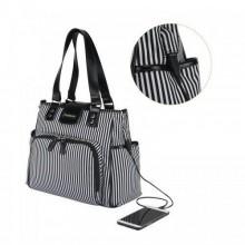 Colorland Double Strap Diaper Bag - Black/White