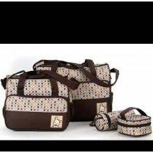 Portable Diaper Bag Sets - Brown/Multicolour