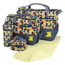 Just For You Diaper Bag Set - 5 Pieces - Multicolour