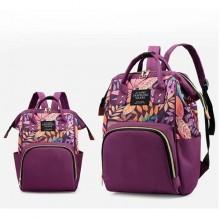 Living Traveling Share Multifunctional Diaper Bag -Purple