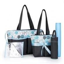 Colorland Portable Diaper Bag Sets - 5 Pieces Blue/Black