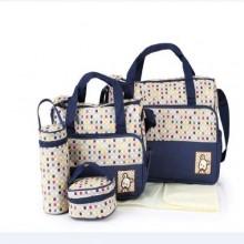 Just For You Portable Diaper Bag Sets - 5 Pieces Blue/Multicolour