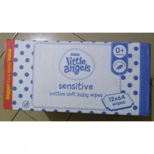 LITTLE ANGELS Sensitive Baby Wipes Big Pack - 768 Count