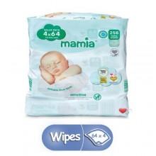 Mamia 256 Baby Sensitive Wipes - 64 x 4 Count