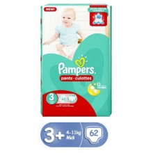 Pampers Midi Pants Diapers - Size 3 - 62 Count