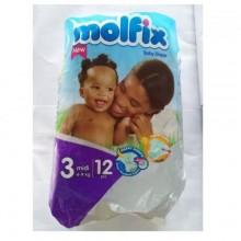 Molfix Diapers - Size 3 - Midi - 12 Counts