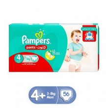 Pampers Pants Diapers, Maxi - Size 4 - 56 Count