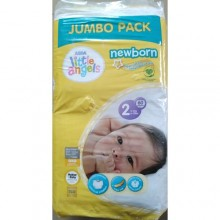 LITTLE ANGELS Baby Diaper Size 2 Jumbo Pack - 60 count
