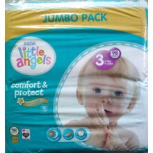 LITTLE ANGELS Baby Diaper Jumbo Pack - Size 3 - 98 Count