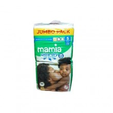Mamia Ultra Dry Diapers - 72 Count, Size 5
