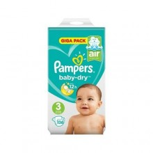 Pampers Giga Pack Bag - Size 3 - 136 Counts