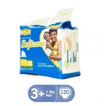 Softcare Baby Diapers - 120 Counts Small 3 - 8kg