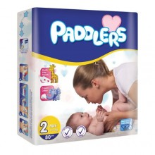 Paddlers Maxi Premium Diapers - Eco Pack (Size 2) - 3-6 month - 44 Counts