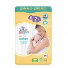 LITTLE ANGELS Baby Diaper Size 4 Jumbo Pack + Jumbo Pack - 60 count