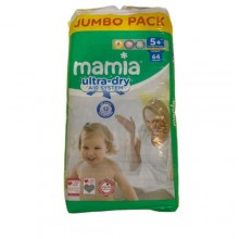 Mamia Ultra Dry Air System Diaper - Jumbo Pack - 5+Months - 64 Count