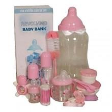 13-in-1 Baby Feeding Bottle Set - Pink