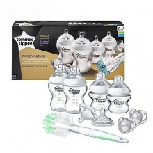 tommee tippee 5 Piece Baby Feeding Bottle Set - White