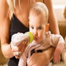Silicon Baby Feeding Bottle - Green/White